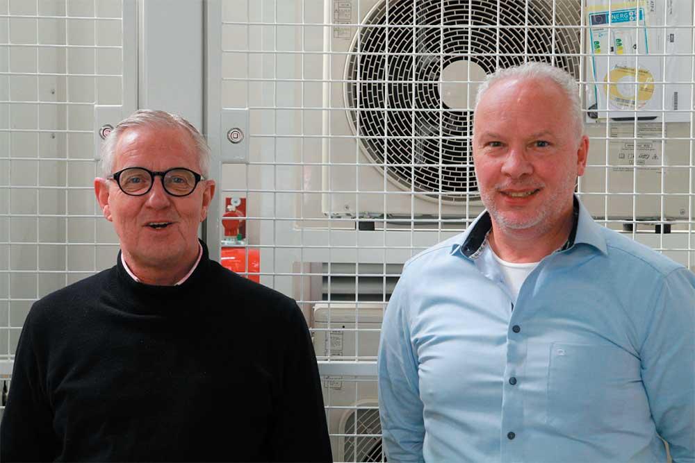 Global sales manager Wilfred van der Klauw en hoofd engineering John van Vliet