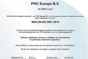 phc europe gecertificeerd-tuv